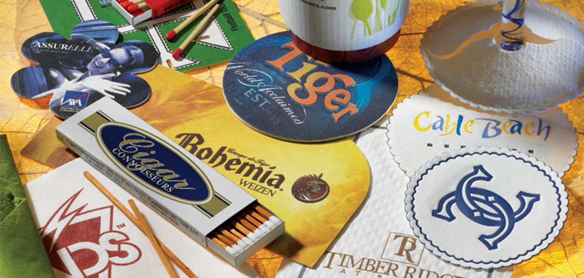 custom printed paper coasters Custom coasters full color printing of personalized coasters made from ultra thick premium paper, ideal for business advertising and special occasions like weddings.